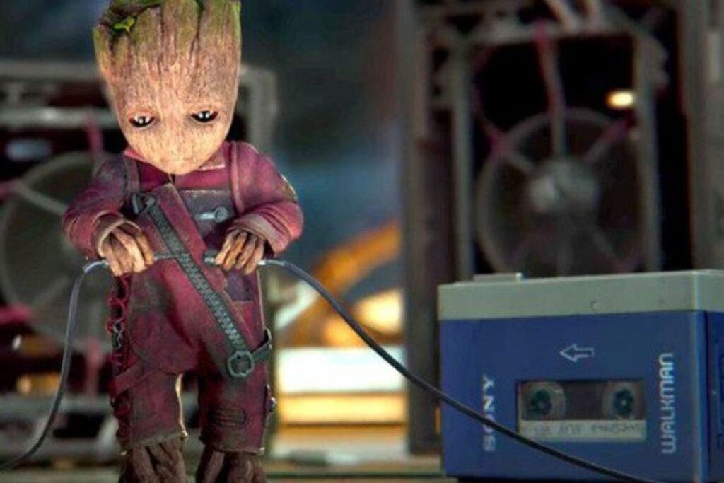 guardiani della galassia 2 il walkman vintage del film